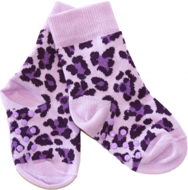 Leopard Lila Socka