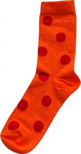 ​Damsocka Orange/röda bollar