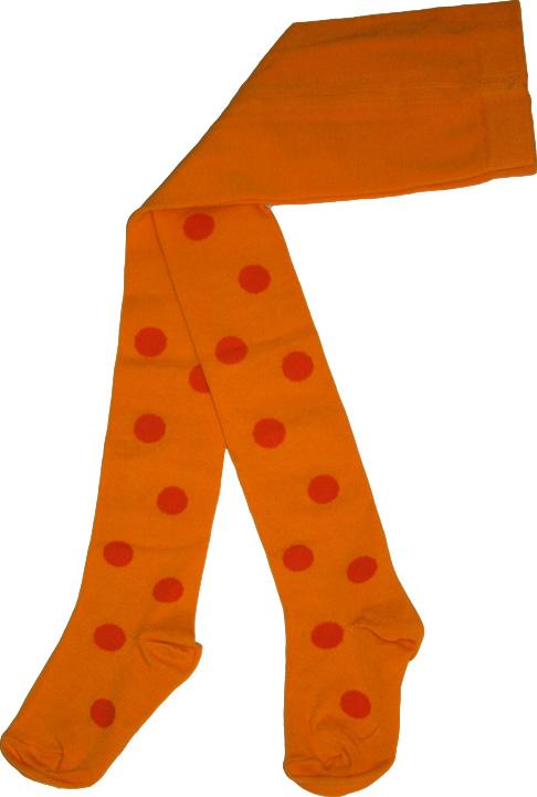 Bollstrumpbyxa Gul/orange bollar