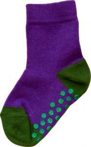 Socka Lila/olivgrön tå/häl