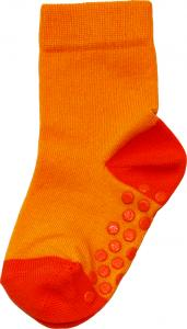 Socka Gul/orange tå/häl
