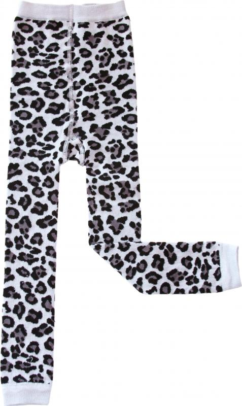 Leopard Svart Leggings i OEKO-TEX