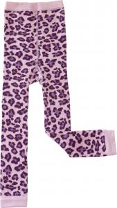 Leopard Lila Leggings i OEKO-TEX