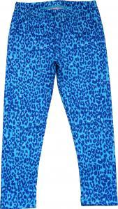 Leopard Turkos Leggings Slimfit i OEKO-TEX