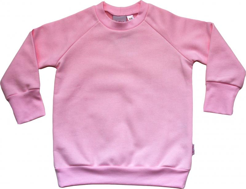 College-tröja Ljusrosa OEKO-TEX-bomull.