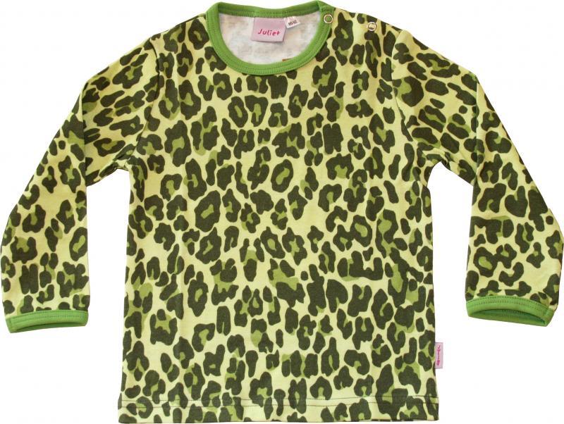 Leopard Grön Tröja i OEKO-TEX