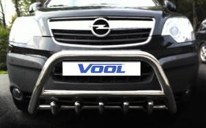 MINDRE frontbåge med trågskydd - Opel Antara 2007-