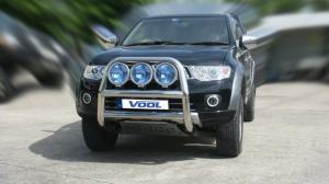 STOR 76MM frontbåge - Mitsubishi Pajero Sport 2008-