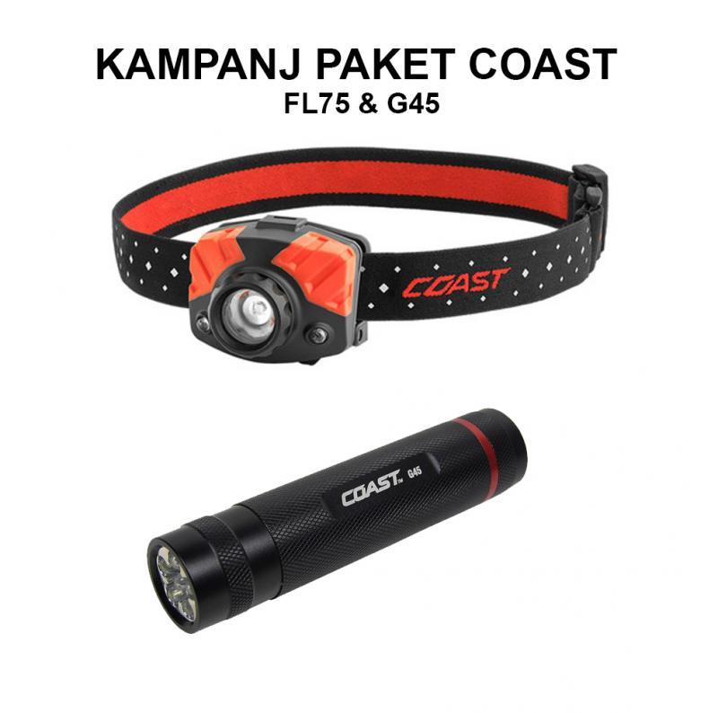 LED Pannlampa & Ficklampa Paket Coast