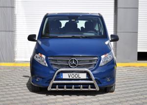 MINDRE frontbåge med trågskydd - Opel Vivaro 2002-2006