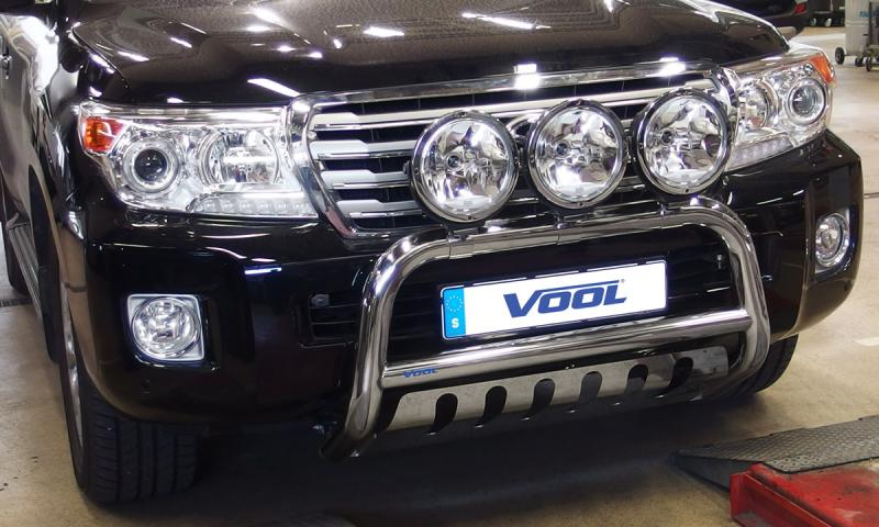 EU Frontbåge med hasplåt - Toyota Land Cruiser 200 / V8 2012-