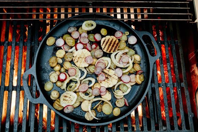 Cast Iron BBQ Pan