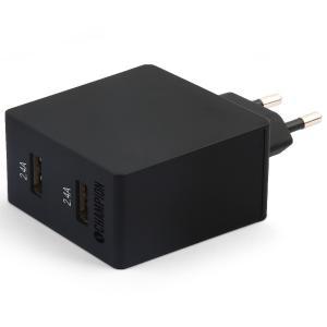 Dual USB Laddare 230V 4.8A