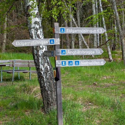 Den korta men fina promenaden runt Eldgarnsö naturreservat utgår från öns parkering