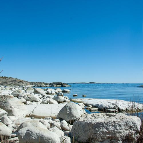 Vacker strandlinje på norra Utö