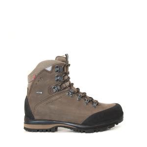 Alfa Berg Gtx är en brun halvhög vandringskänga. Nubuck och goretex. Sidovy.