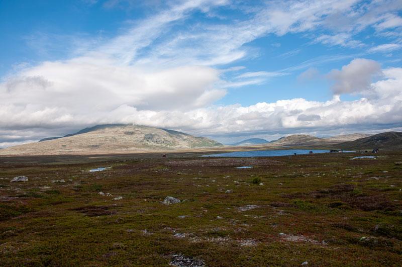 Vy över Gröthogna och Grötvallsjön