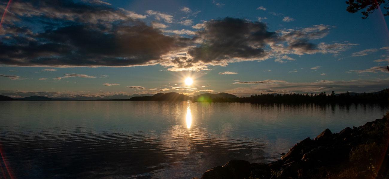 Solnedgång över Rogensjön