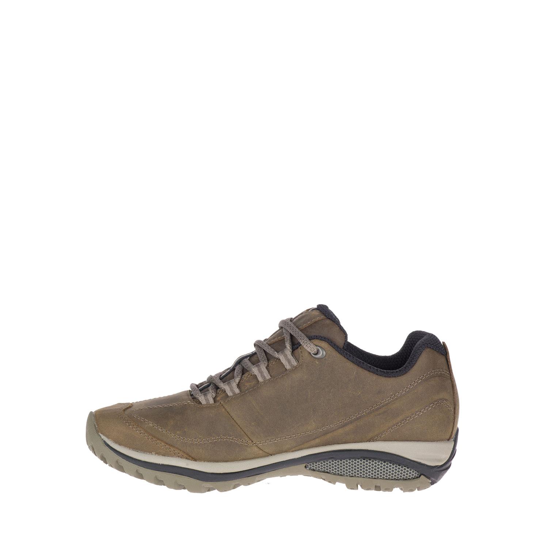 Ljusbrun lädersko sedd sedd från sidan