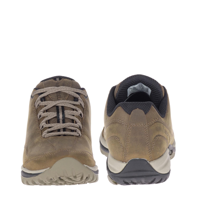 Ljusbrun lädersko sedd framifrån och bakifrån