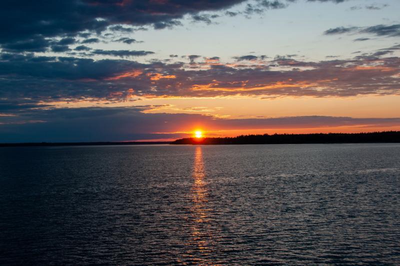 Solnedgång över Tjocköfjärden