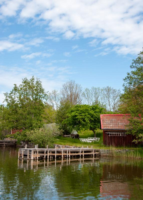 Tjockö i Roslagen är en stillsam skärgårdsidyll