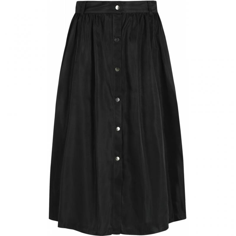 EVALIA MIDI SKIRT BLACK SOFT REBELS