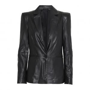 2ND MILLER LEATHER BLAZER BLACK 2ND DAY
