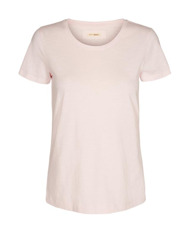 Arden O-neck tee soft rose Mosmosh