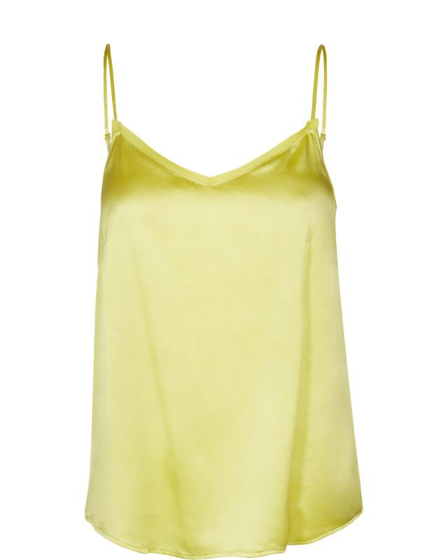 Ditte silk singlet shadow lime Mosmosh