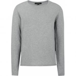 ZARA O-NECK KNIT ROLL EDGE LIGHT GREY SOFT REBELS