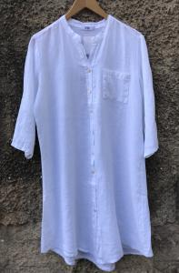 LONG SHIRT WHITE LINEN TIFFANY