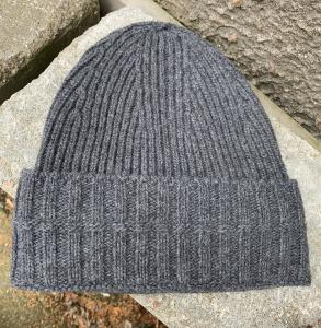 RIBBED BEANIE GREY MELANGE HOUSE OF DAGMAR
