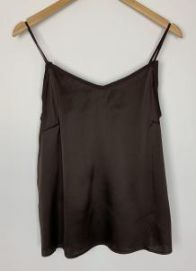 DITTE SILK SINGLET COFFEE BEAN MOSMOSH