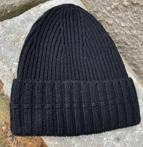 RIBBED BEANIE BLACK HOUSE OF DAGMAR