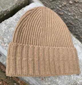 RIBBED BEANIE CAMEL HOUSE OF DAGMAR