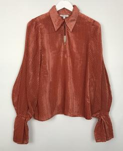 ROSETTE BLOUSE red DAGMAR