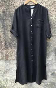 LINEN KAFTAN BLACK TIFFANY