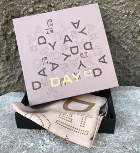 DAY SILK MINI LOGO ROTATE SCARF BRUSH BEIGE ET BY DAY BIRGER ET MIKKELSEN