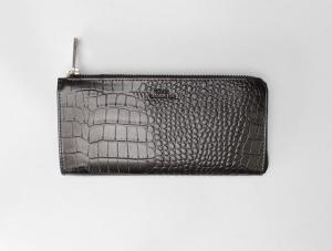 LAURA BLACK CROCO Wallet Saddler