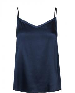 DITTE SILK SINGLET DARK BLUE