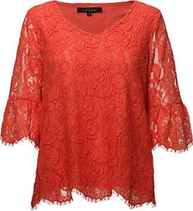 Pia Blouse Hot Coral Soft Rebels