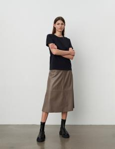 2ND MARVIN REFINED LEATHER SKIRT FALCON 2ND DAY
