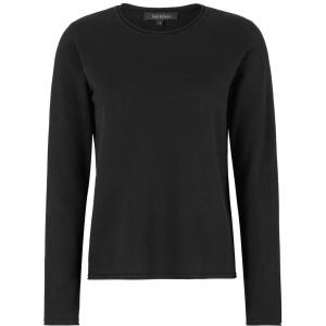 Zara O-neck Knit Roll Edge Black Soft Rebels