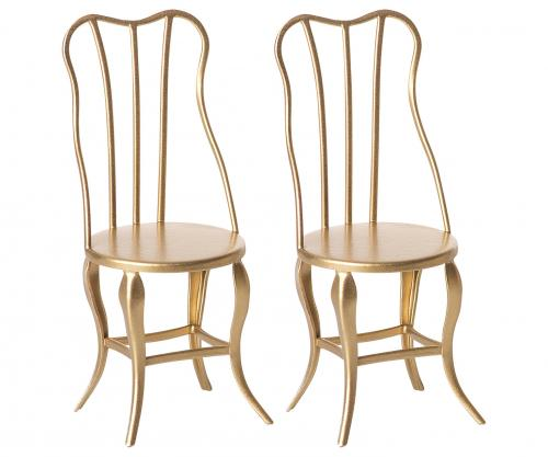 Vintage chair, Micro - Gold, 2 pack