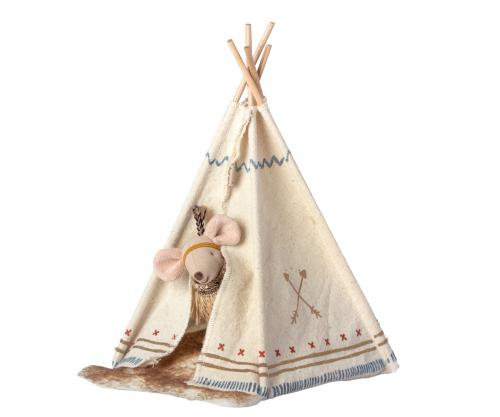 Little feather w. tent, Little sister mouse