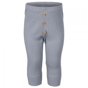Babyleggings Ribbad Dusty Blue