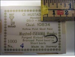 Mustad 10834 No.8(4) Iseama