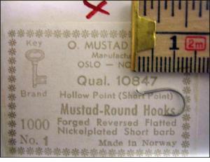 Mustad 10847 No.1 Round