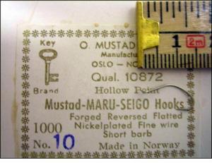 Mustad 10872 No. 10 Maru-Seigo